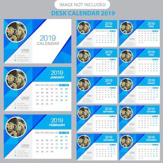 Modèle de calendrier de bureau 2019