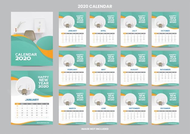 Modèle de calendrier de bureau 2020
