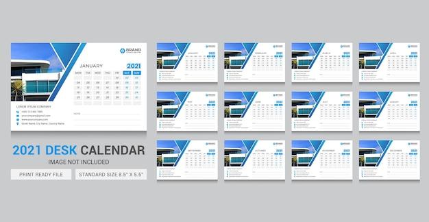 Modèle de calendrier de bureau 2021