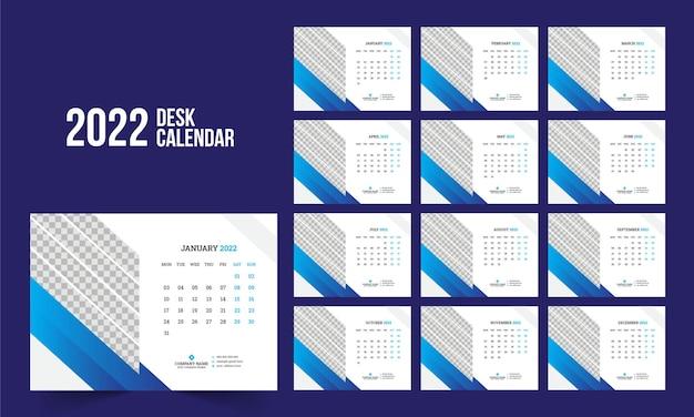 Modèle de calendrier de bureau 2022