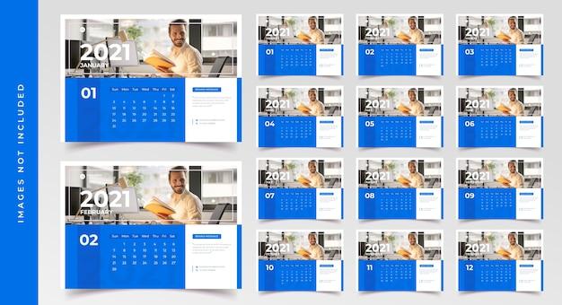 Modèle de calendrier de bureau la semaine commence le lundi