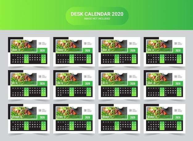 Modèle de calendrier du bureau des aliments 2020