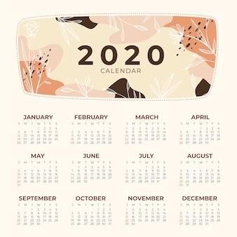 Modèle de calendrier nature 2020