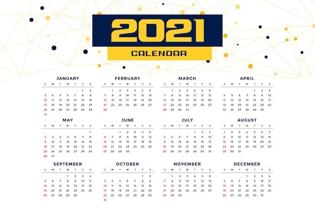 Modèle de calendrier de nouvel an de style moderne