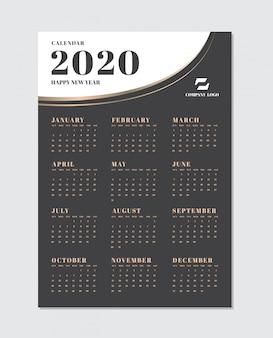 Modèle de calendrier de planification pour 2020