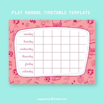 Modèle de calendrier scolaire créatif