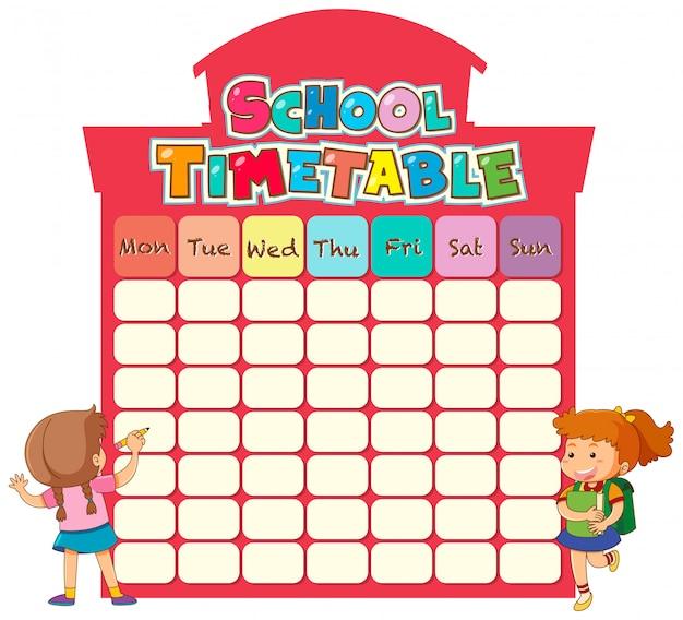 Modèle de calendrier scolaire