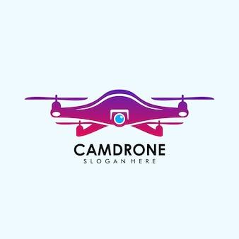 Modèle de caméra drone logo v