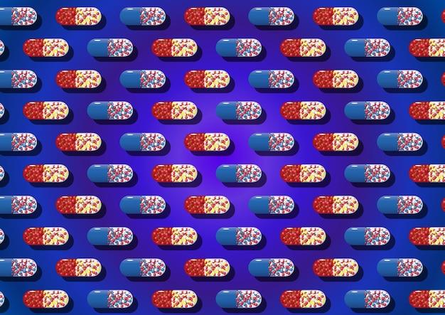 Modèle avec capsules médicales