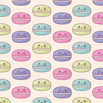 Modèle de caractères kawaii de bonbons sucrés