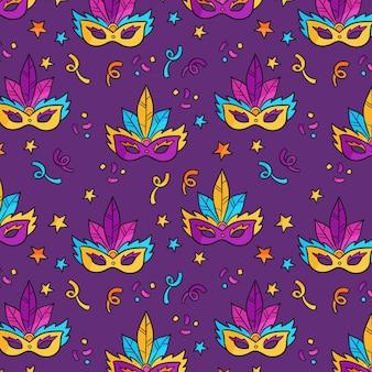 Modèle de carnaval brésilien coloré
