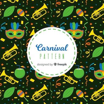 Modèle de carnaval brésilien plat