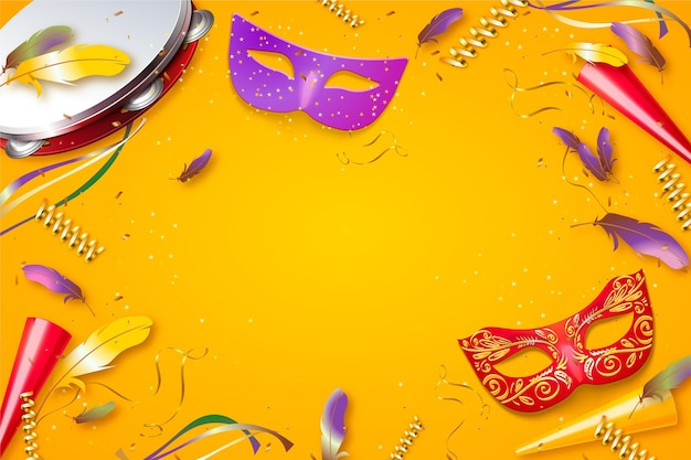 Modèle de carnaval brésilien réaliste