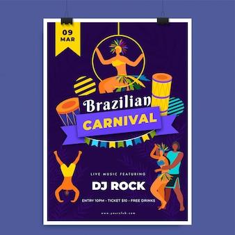 Modèle de carnaval brésilien.