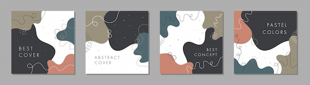 Modèle carré abstrait branché avec concept coloré.