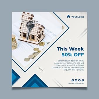 Modèle carré de flyer immobilier