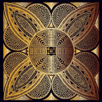Modèle de carreaux d'or