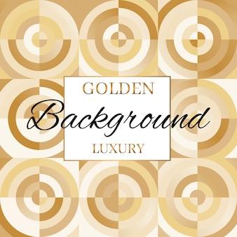 Modèle de carreaux de sol vintage gold vintage