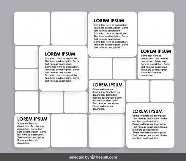 Modèle de carrés arrondis de couleur blanche