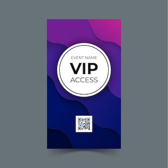 Modèle de carte d'accès vip