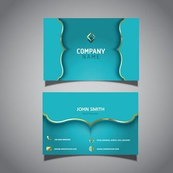 Modèle de carte d'affaires avec un design élégant