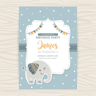 Modèle de carte d'anniversaire de bébé