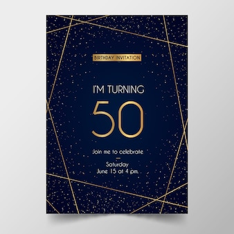 Modèle de carte d'anniversaire élégant