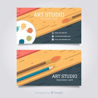 Modèle de carte d'art studio