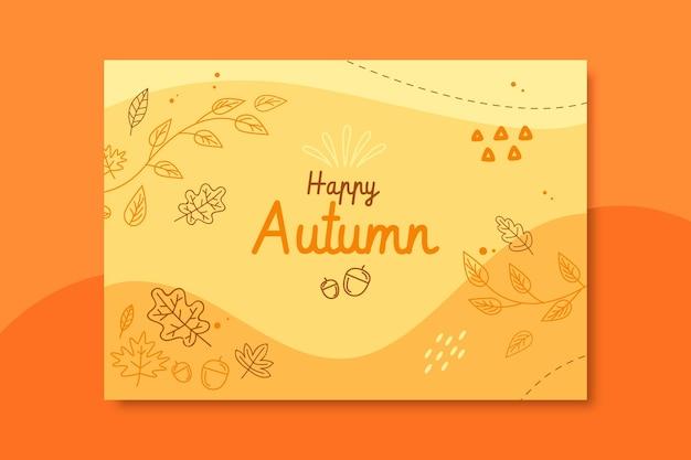 Modèle de carte d'automne