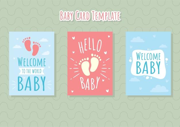 Modèle de carte de bébé