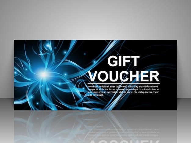 Modèle de carte de bon cadeau promotionnel