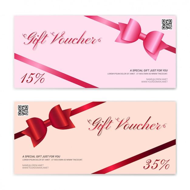 Modèle de carte-cadeau ou de bon de caisse
