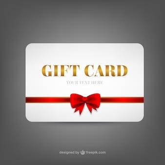 Modèle de carte de cadeau