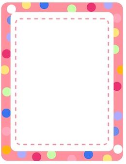 Modèle de carte de cadre coloré vide
