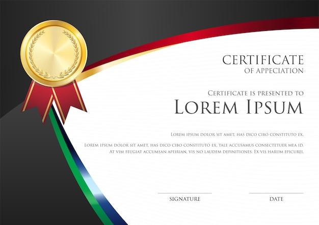 Modèle de carte de certificat simple