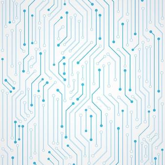 Modèle de carte de circuit imprimé abstrait technologie fond bleu