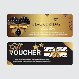 Modèle de carte de coupon du vendredi noir