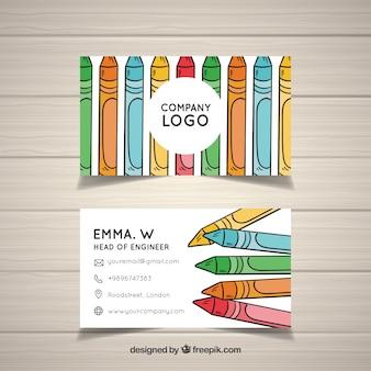 Modèle de carte crayon art studio