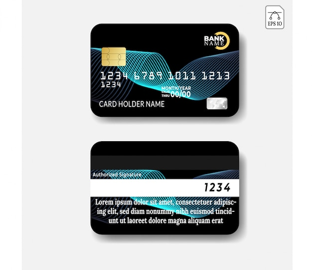 Modèle de carte de crédit avec dessin abstrait