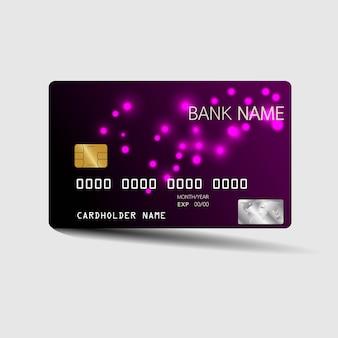 Modèle de carte de crédit luxueux.