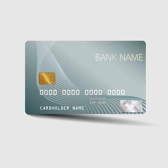 Modèle de carte de crédit moderne. avec l'inspiration de l'abstrait.