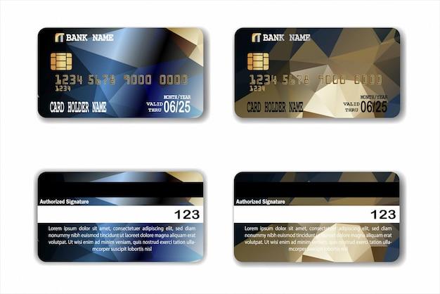 Modèle de carte de crédit avec texture low poly