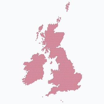 Modèle de carte du royaume-uni