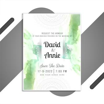 Modèle de carte élégante invitation de mariage abstrait