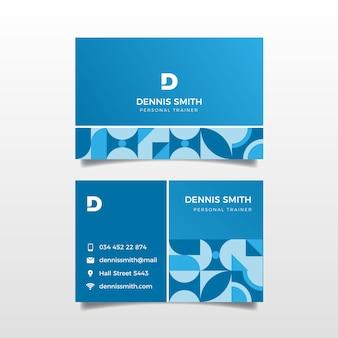 Modèle de carte d'entreprise bleu classique
