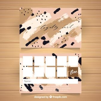 Modèle de carte de fidélité abstraite avec style coloré