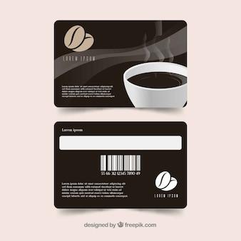 Modèle de carte de fidélité café moderne