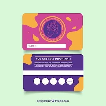 Modèle de carte de fidélité coloré