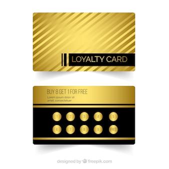 Modèle de carte de fidélité élégant avec un style d'or