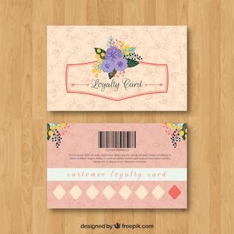 Modèle de carte de fidélité floral